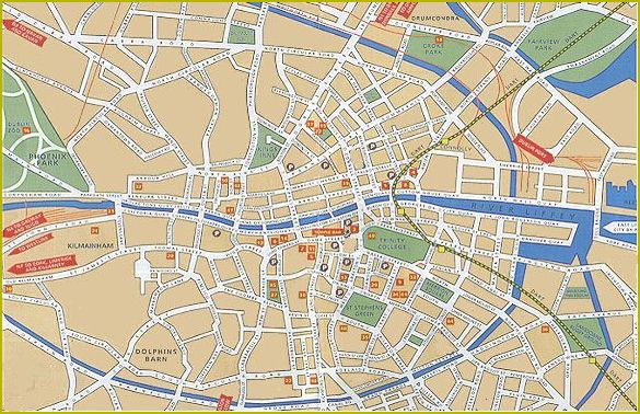 Dublin map of Dublin Ireland Dublin city centre map Dublin